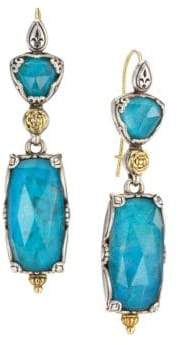 Konstantino Chrysocolla & 18K Yellow Gold Drop Earrings