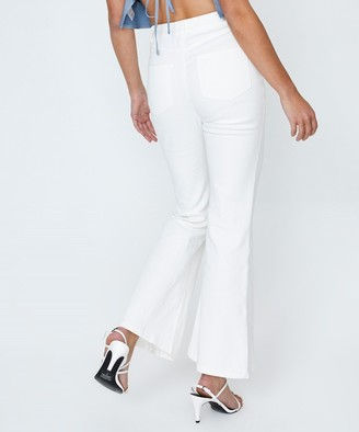 Alice In The Eve Erica High Rise Kick Flare Chalk White
