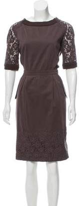 Philosophy di Alberta Ferretti Embroidered Knee-Length Dress