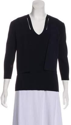 Akris Rib Knit Cardigan Set