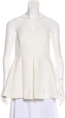Elizabeth and James Strapless Pleated Top