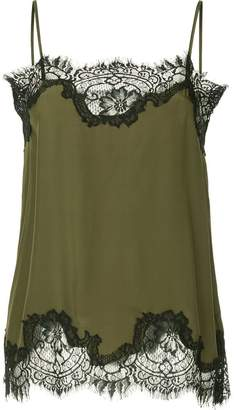 Gold Hawk lace trim cami