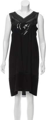 Philosophy di Alberta Ferretti Silk Embellished Dress