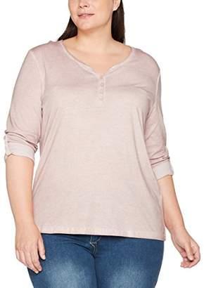 Ulla Popken Women's Shirt Oil Dyed Mit Knopfleiste Longsleeve T-Shirt,20