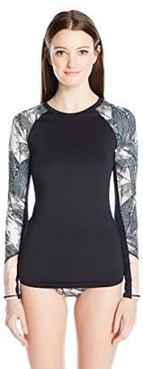 Roxy Women's Long Sleeve Fashion Lycra Rashguard $39.36 thestylecure.com