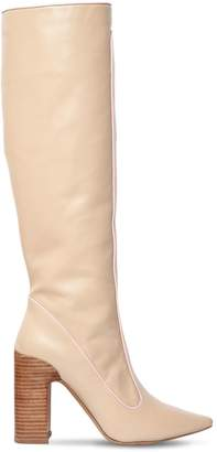 100mm Farrah Leather Tall Boots