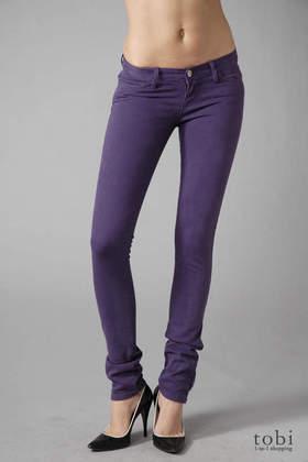 Ksubi Super Skinny Zip Jeans in Overdye Purple
