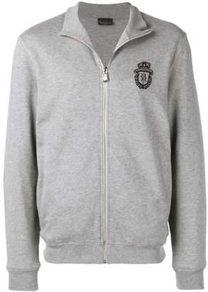 Billionaire logo zipped-up jacket