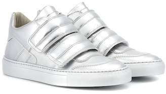 MM6 MAISON MARGIELA Metallic leather sneakers
