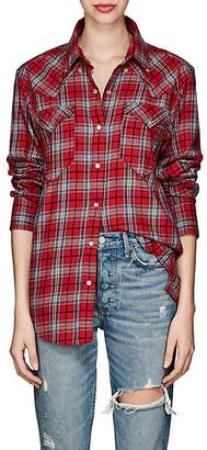 Etoile Isabel Marant Women's Divana Plaid Cotton Flannel Blouse