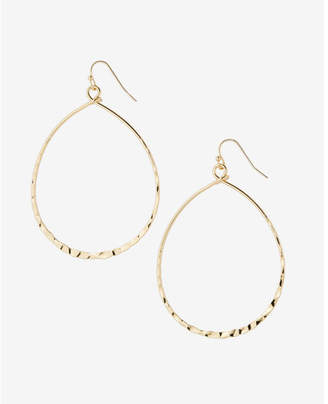 Express Hammered Oval Drop Earrings $16.90 thestylecure.com
