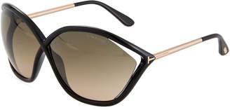 Tom Ford Bella Oversized Open-Inset Sunglasses