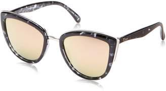 Quay Women's Mirrored My Girl QW-000065-BLKTO/PNK Cat Eye Sunglasses