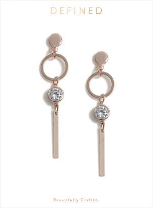 52c4fe09a Dorothy Perkins Womens Rose Gold Stick Drop Earrings