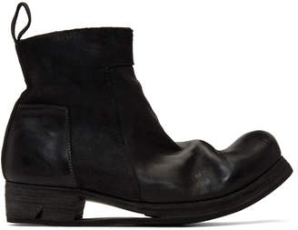 Boris Bidjan Saberi Black Zip-Up Boots