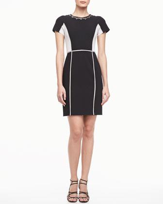 Rebecca Taylor Two-Tone Crepe Dress