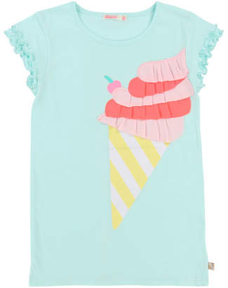 Billieblush Short-Sleeve Jersey Shirt Dress w/ Ice Cream Detail, Size 2-8