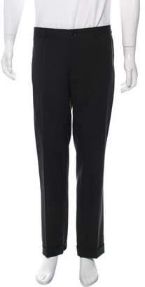 Dolce & Gabbana Flat Front Straight-Leg Pants