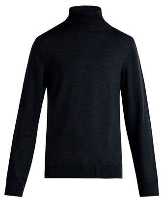 A.p.c. - Marcelino Merino Wool Roll Neck Sweater - Mens - Blue