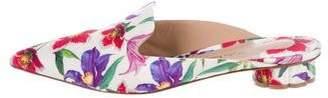 Salvatore Ferragamo Floral Pointed-Toe Mules