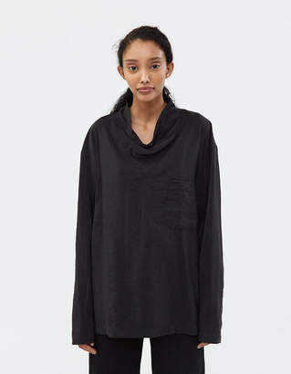 Lemaire Loose Collar Shirt in Black