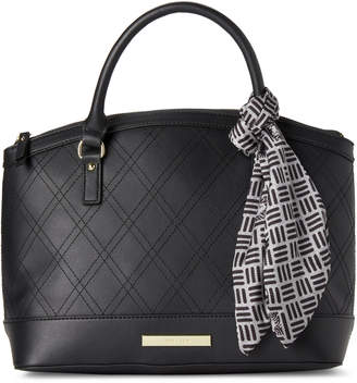 Anne Klein Quilted Argyle Satchel