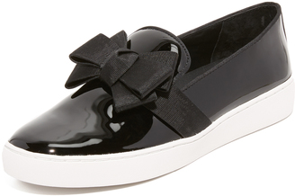 Michael Kors Collection Val Bow Slip On Sneakers $275 thestylecure.com