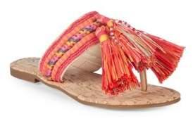 Sam Edelman Bella Fabric Tassel Thong Sandals
