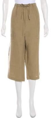 eskandar Linen High-Rise Culottes