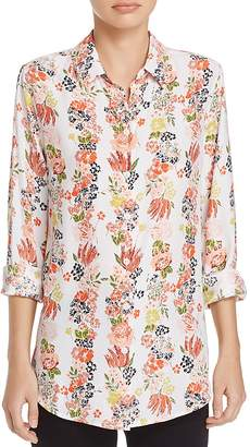 Equipment Essential Floral Print Silk Shirt