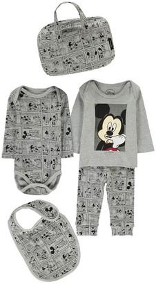 LITTLE ELEVEN PARIS Mikash Mickey Sweatshirt, Jogging Bottoms, Body, Bib and Bag Set $76.80 thestylecure.com