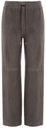 Joseph Suede Drawstring Pants