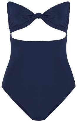 Mara Hoffman Knotted Cutout Swimsuit - Storm blue