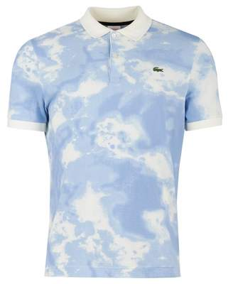 Lacoste Live Cloud Print Short Sleeved Polo