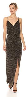 BCBGeneration Women's V-Neck Gown W/Shirring
