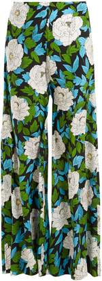 Diane von Furstenberg Boswell floral-print high-rise trousers