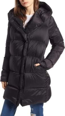 KENDALL + KYLIE Asymmetrical Zip Puffer Coat