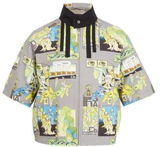 Prada - Comic Print Short Sleeved Jacket - Mens - Grey Multi