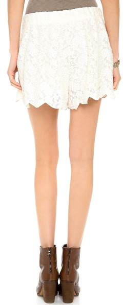 Free People Scallop Lace Shorts
