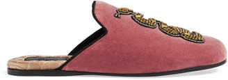 Velvet evening slipper with snake $980 thestylecure.com