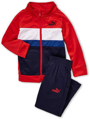Puma Toddler Boys) Two-Piece Color Block Full-Zip Tricot Jacket & Joggers Set