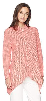 Anne Klein Women's Gingham Tunic Blouse