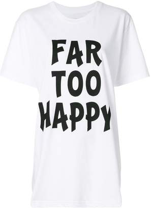 House of Holland Far too Happy T-shirt