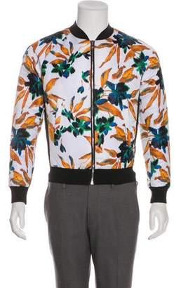 Balenciaga Floral Print Bomber Jacket