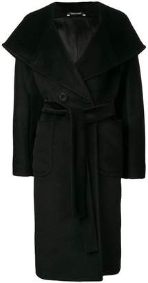 Tagliatore hooded wrap coat