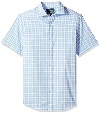 Buttoned Down Men's Tailored Fit Stretch Spread-Collar Short-Sleeve Non-Iron Shirt