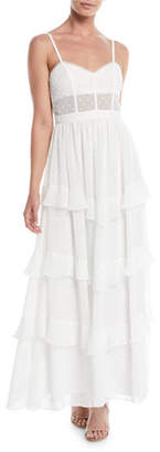 Fame & Partners The Nancy Ruffle Tiered Maxi Dress