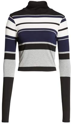 Love, Fire Stripe Mock Neck Tee