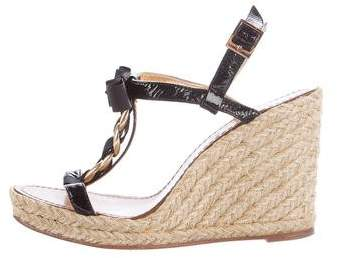 Kate SpadeKate Spade New York Chain-Link Bow Wedge Sandals