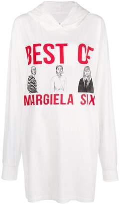 MM6 MAISON MARGIELA front printed elongated hoodie
